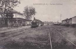31 - St-Gaudens - La Gare - Intérieur - Circulé En 1920 - Animée - Trains - TBE - Saint Gaudens