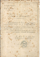 NICE . BREVET DE VELOCIPEDISTE . BAT DE CHASSEURS A PIEDS . 1900 - Documenti