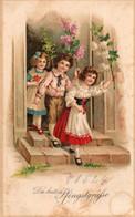 DC4656 - Schöne Motivkarte Pfingsten Kinder - Pentecostés