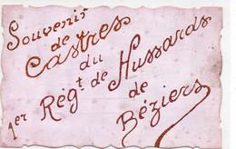 81 Souvenir De Castres Du 1er Regiment De Hussards De Beziers - Castres