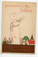 """ENFANTS  Croix Rouge Américaine   """" Sauvons Les Bébés Par L'Allaitement Maternel """" Illustrateur H Stephany  D24 2020 - Non Classificati"""