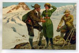 "ILLUSTRATEUR Ernst PLATZ Meissner Buch Série 1471 "" Bergsport ""  Montagne Femme  Hommes Alpinistes -    /D20-2018 - Other Illustrators"