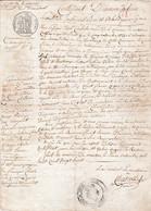 1828 MAUVES (Marne) Certificat D'INNONDATION Servant De PASSEPORT Valable Pour Six Mois - Submergé 2 Moulins Et Un - Historische Documenten
