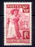 RC 19405 FRANCE COTE 9,50€ N° 401 FRANÇAIS RAPATRIÉS D'ESPAGNE NEUF ** TB - Nuevos