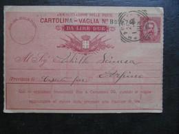 1905 ITALIA NAPOLI CARTOLINA VAGLIA STAMPA CENTISIMI DIECI PAGARE DUE LIRE - Entiers Postaux