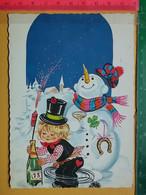 KOV 8-254 - New Year, Bonne Annee, RAMONEUR, CHIMNEY SWEEP,  Snowman, Bonhomme De Neige, FIREWORKS - Anno Nuovo