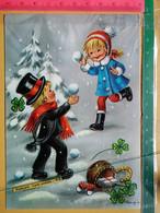 KOV 8-254 - New Year, Bonne Annee, RAMONEUR, CHIMNEY SWEEP, Champignon, Mushroom, Treffle, Children, Enfant - Anno Nuovo