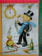 KOV 8-254 - New Year, Bonne Annee, RAMONEUR, CHIMNEY SWEEP, Champignon, Mushroom, Treffle, Money - Anno Nuovo