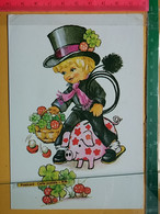 KOV 8-254 - New Year, Bonne Annee, RAMONEUR, CHIMNEY SWEEP, Champignon, Mushroom, Treffle, Pig, Porc, Cochon - Anno Nuovo