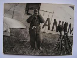 PHOTO AUTOGRAPHE PILOTE AVIATION MARYSE HILSZ COUPE HELENE BOUCHER BUC 1935  R124 - Aviation