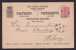 Finland: Stationery Postcard, 1890, Heraldry (minor Discolouring) - Storia Postale