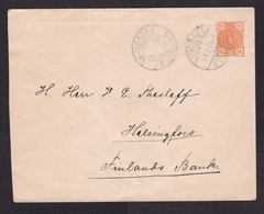 Finland: Stationery Cover, 1896, Heraldry, Cancel Kouvola (minor Crease) - Storia Postale