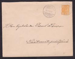 Finland: Stationery Cover, 1895, Heraldry, Cancel Kuurila & Saaksmaki (minor Damage) - Storia Postale