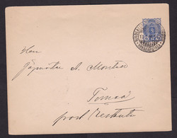 Finland: Stationery Cover, 1901, Heraldry, Cancel Nikolaistad (traces Of Use) - Storia Postale