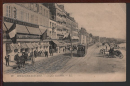62 - BOULOGNE-SUR-MER - Le Quai Gambetta - Tramway - Calèches - Hôtel De Folkestone - Boulogne Sur Mer
