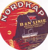 BERGEN(ETIQUETTE) BATEAU NORDKAP(NORVEGE) - Advertising