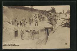 51 SAINT St Souplet Mannschaften Beim Arbeitsdienst Soldaten Carriere Carte Photo - Altri Comuni