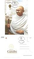 CARTE MAXIMUM - MAXICARD - MAXIMUM KARTE - MAXIMUM CARD - PORTUGAL - 150 ANS DE LA NAISSANCE DE MAHATMA GANDHI - Mahatma Gandhi
