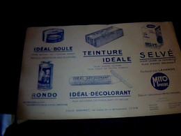 Publicité Buvard Produits Louis Gonet  : Mito_phobe ,idéal Boule,teinture Idéale, Selvé, Rondo ,ideal Colorant - G