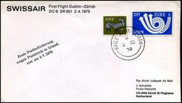 Ireland - First Flight Swissair Dublin-Zürich, DC-9 - Covers & Documents