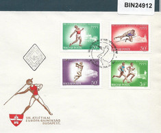 HUNGARY - 1966 FDC VIII ATLETIKAI EUROPA BAJNOKSAG  - 24912 - Athlétisme