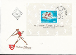 HUNGARY - 1966 FDC VIII ATLETIKAI EUROPA BAJNOKSAG  - 24912B - Athlétisme