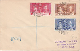 BERMUDA GB LETTRE FDC COURONNEMENT 1937 - Otros