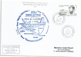 YT 557 Dr Rivolier - Transport Par Avion Twin Otter - Dumont D'Urville - Terre Adélie - 03/12/2011 - Cartas