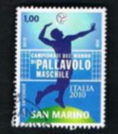 SAN MARINO - UNIFIC. NC  - 2010  CAMPIONATI MONDIALI DI PALLAVOLO MASCHILE - USED - Gebraucht