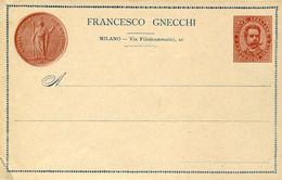 "60728 Italia,stamped To Order Postcard 10c.1902,francesco Gnecchi Milano,showig ""ambrosino D'oro"" RR - Entiers Postaux"