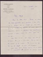 """Lettre à En-tête """" Chambre De Commerce D'Alger """" Du 3 Août 1960 - Sin Clasificación"""