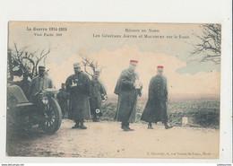 LA GUERRE 1914 REGION DU NORD LES GENERAUX JOFFRE ET MAUNOURY SUR LE FRONT CPA BON ETAT - War 1914-18