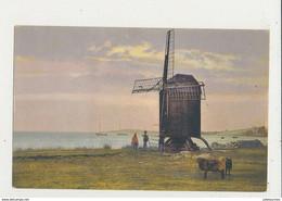 MOULIN A VENT ILLUSTRATION CPA BON ETAT - Windmühlen