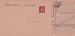 Carte Pétain 1.20 Brun D9c Chèque Textile 10 000 Points Neuve - Standard Postcards & Stamped On Demand (before 1995)