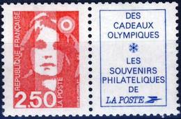 2715a 2,50F + Vignette Souvenir Philatéliques  NEUF ** ANNEE 1991 - 1989-96 Marianna Del Bicentenario