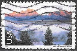 2009 98 Cents Grand Teton National Park Wyoming, Airmail, Used - Usati