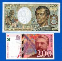 France  2  Billets - 200 F 1981-1994 ''Montesquieu''