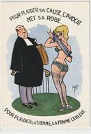 HUMOUR 659 : Illustrateur Mat , L'avocat , La Plaignante : édit. Lyna Série 327.3 - Humor
