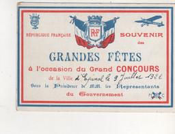 CPA  EPINAL GRANDES FETES A L OCCASION DU GRAND CONCOUR DE LA VILLE LE 9 JUILLET 1922 - Otros Municipios