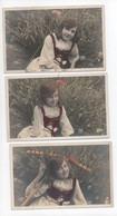 3  CPA  De Fille Devant  Le  Blé - Sammlungen, Lose & Serien