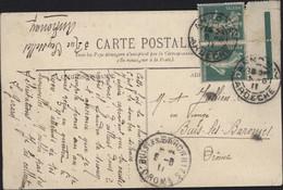 Tarn CPA Mazamet La Gare YT 137 Paire Avec Bord De Feuille + Repère Annonay Ardèche 5 8 11 Arrivée Buis-les-Baronnies - 1877-1920: Semi Modern Period