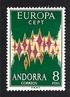 Andorre (Espagnol) Yv 64A (cote 135€) Europa 1972 ** - 1972