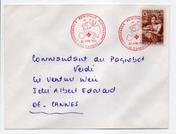 - Lettre CANNES 22.4.1970 - CONFÉRENCE RÉGIONALE EUROPÉENNE CROIX-ROUGE - Bel Affranchissement Philatélique - - Red Cross