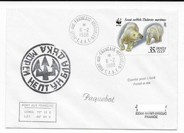 FSAT TAAF Bateau Russe URSS. 06.02.88 Kerguelen Neptune - Covers & Documents