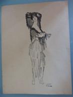 GRAVURE A LA PLUME 23 X 31 SIGNEE NESTOR 8-11-1922 BELLE DE JOUR - Prenten & Gravure