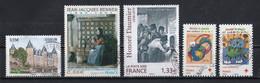 France 2008 : Timbres Yvert & Tellier N° 4281 - 4286 - 4305 - 4306 Et 4307 Avec Oblitérations Rondes. - Usados
