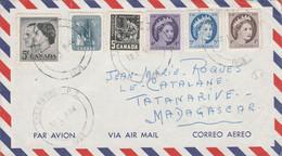 CANADA AFFRANCHISSEMENT COMPOSE SUR LETTRE POUR LA FRANCE 1967 - Briefe U. Dokumente