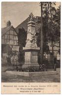 CPA 67 - WEYERSHEIM (Bas-Rhin) - Monument Des Morts De La Grande Guerre 1914-1918 - Otros Municipios