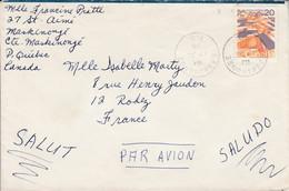 CANADA SEUL SUR LETTRE POUR LA FRANCE 1976 - Briefe U. Dokumente