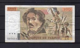 Billet 100 Francs Delacroix - 100 F 1978-1995 ''Delacroix''